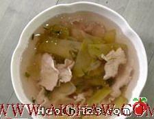 绿茶香肉片榨菜汤