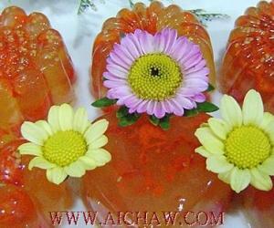 菊花枸杞雪梨糕的制作方法