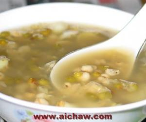 绿豆茶叶冰糖汤的制作方法|绿豆茶叶冰糖汤的功效