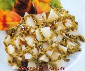 绿茶沙拉笋的做法