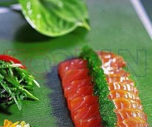 绿茶三文鱼的做法