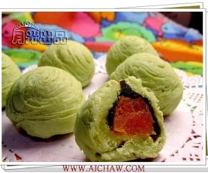 绿茶红豆酥