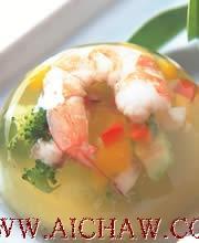 绿茶虾冻的做法