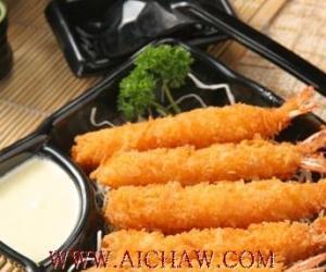 降脂食疗方绿茶大虾
