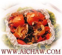 白毫乌龙烤青蟹的做法