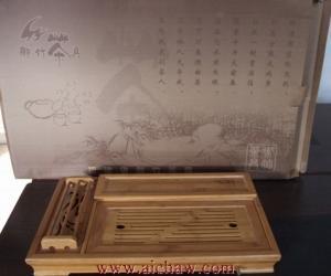 竹制茶具图片欣赏
