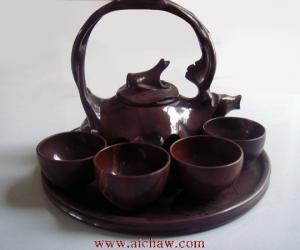 木鱼石茶具图片