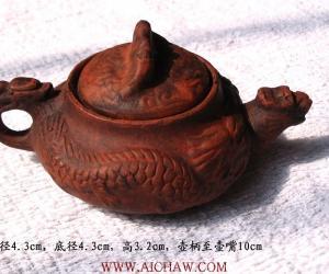 康熙年龙纹紫砂壶