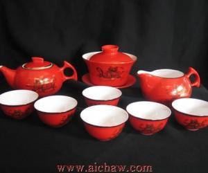 中国红功夫茶具图片欣赏