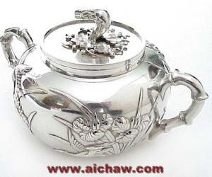 银茶具|几款清中期的银茶具图片欣赏