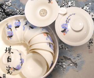 珠白瓷茶具欣赏