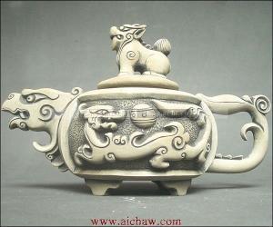 澄泥石茶壶