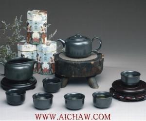 黑釉茶具图片欣赏
