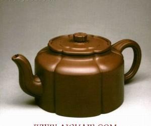 陶土茶具:梅花周盘壶(图)
