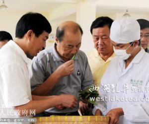 卢荣景、季家宏一行考察黄山区茶业经济发展情况