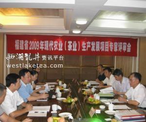 福建省2009年现代农业(茶业)生产发展项目专家评审会召开