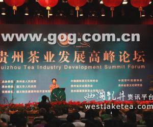 贵州绿茶高峰论坛举行 专家把脉贵州茶产业(图)