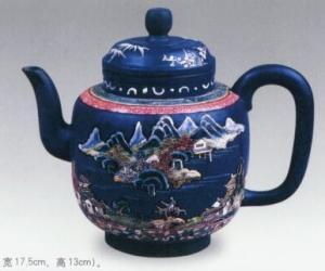 紫砂彩釉汉方壶|紫砂彩釉汉方壶的历史渊源