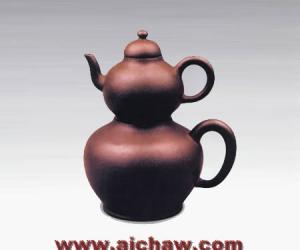 紫砂子母暖壶(清)