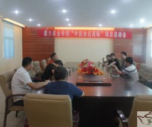 """徽六茶业争创""""中国驰名商标""""项目启动会"""